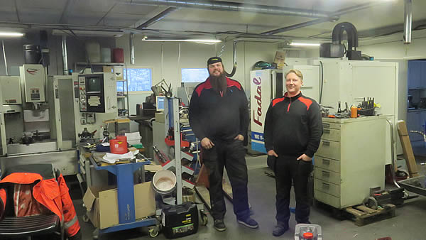 Mikko and his machinist Seppo are working with very typical machines, including two vertical machining centers.